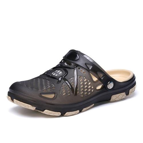 Foto Produk Sandal sepatu pria slip on sendal cowo kekinian murah - Hitam, 38 dari raihanaolshop