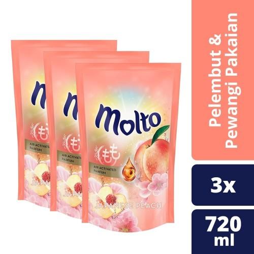 Foto Produk Molto Pelembut Dan Pewangi Pakaian Japanese Peach 720Ml isi 3 dari Unilever Official Store