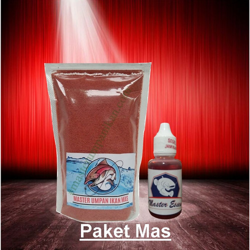 Foto Produk Master Umpan Essen Ikan Mas Nila Patin Lele Tinggal Seduh Air Panas - Merah dari Master Essen Ikan