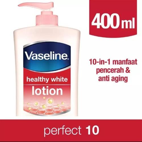 Foto Produk Vaseline Hand Body Lotion Healthy White Perfect 10 400 ml dari Alien_store11