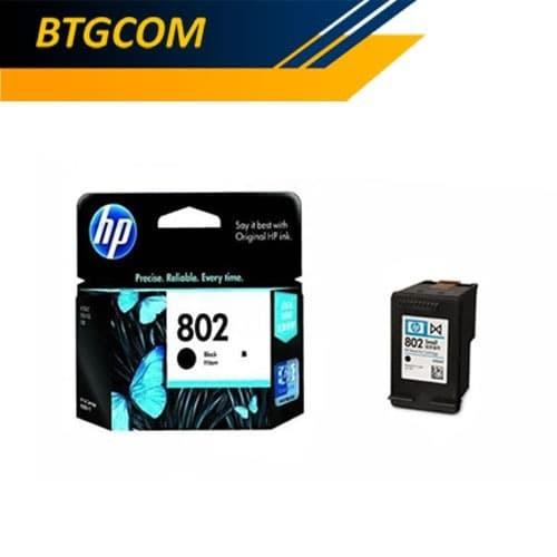 Foto Produk HP 802 Black Hitam BK Tinta Catridge Catrid HP802 Ori dari BTGCOM