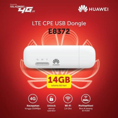 Foto Produk Modem Wifi Huawei E8372 4G LTE 150Mbps Unlock All GSM dari Tech Spot