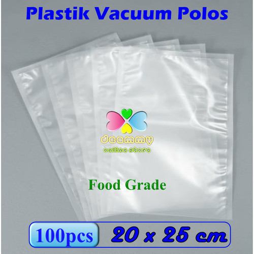 Foto Produk Plastic Vacuum Bag Polos 20 x 25 cm, Plastik Vakum Bag Sealer - 1Pak isi 100pcs dari Deammy OL Store