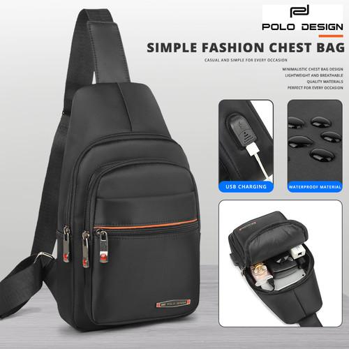Foto Produk Polo Design Chest Bag 802-26 Black dari STUDIO TAS