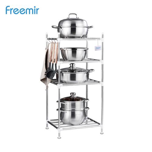 Foto Produk Freemir Rak Panci Wajan Multifungsi Dapur Rack Bertingkat - 4 level dari freemir Official Store