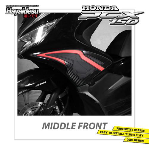 Foto Produk Hayaidesu PCX Body Protector Middle Front Cover New Version - Merah dari Hayaidesu Indonesia