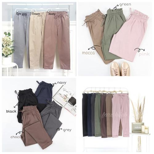 Foto Produk Celana Panjang Full Karet Long Pants - standar, light grey dari Farz Hijab