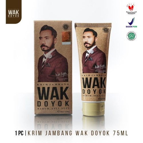 Foto Produk Wak Doyok Cream 75ml Original - Wakdoyok Krim Penumbuh Jambang, Rambut dari Wakdoyok Official