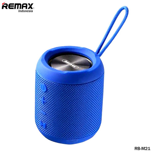 Foto Produk Remax Fabric Bluetooth Speaker RB-M21 - BLUE dari Remax Indonesia Official