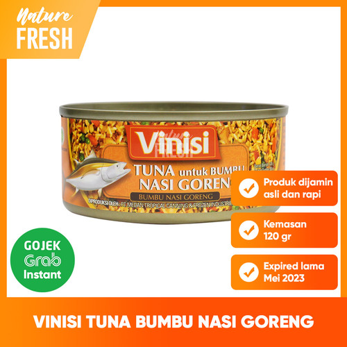 Foto Produk Vinisi Chunk Light Tuna Daging Ikan Tuna dalam Rendaman Minyak - NasiGoreng120gr dari NatureFresh
