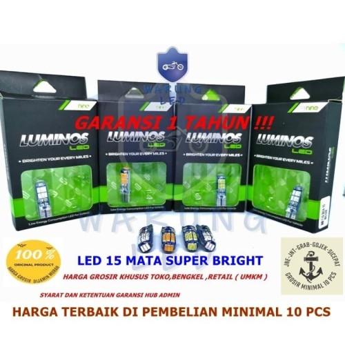 Foto Produk Lampu LED T10 9nine Luminos senja sein plat mundur 15 Titik ( set ) - Biru dari WARUNG_LED