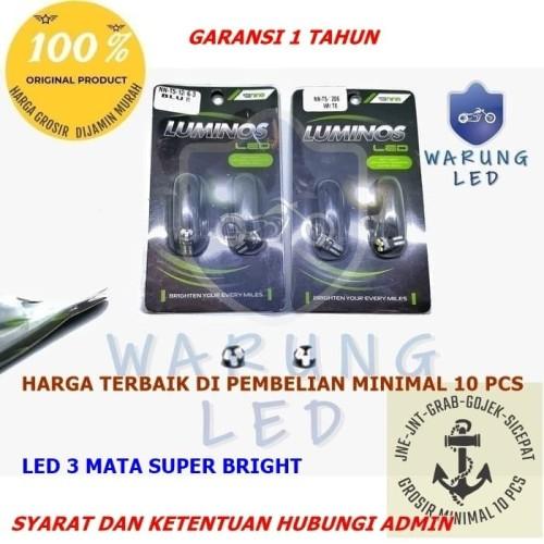 Foto Produk Lampu LED Speedometer Motor Mobil T5 3 Titik Luminos 9nine asli (SATU) - Putih dari WARUNG LED JAKARTA