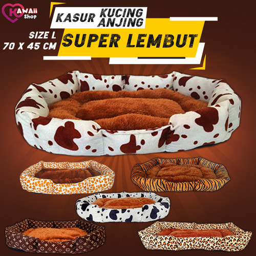 Foto Produk Tempat Tidur Bantal Kasur Kucing Anjing Pet Dog bed / Model Sofa Besar - Brown Cow dari Kawaiishop27