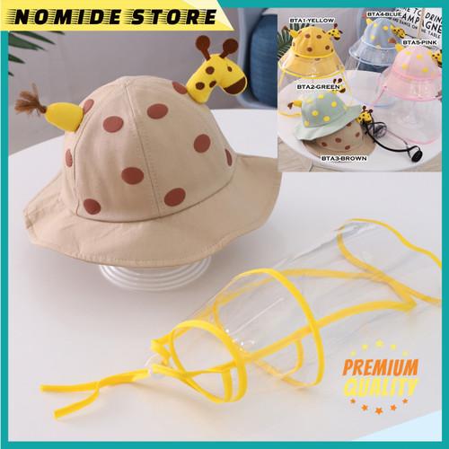 Foto Produk Topi Face Shield Anti Corona Pelindung Wajah Anak Anak Motif JERAPAH - BTA-3 BROWN dari NOMIDE STORE