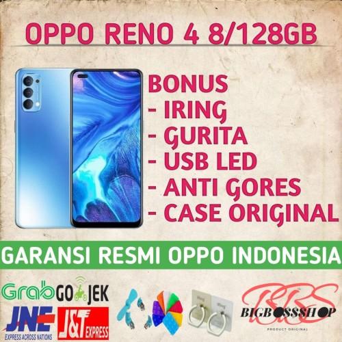 Foto Produk OPPO RENO 4 8/128GB NEW GARANSI RESMI - Hitam dari Bigbossshop