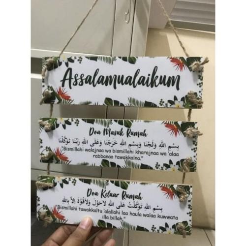 Foto Produk Gantungan Pintu Assalamualaikum Doa Masuk Rumah dari KamehaShop.com