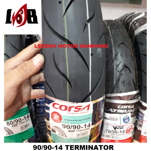 Foto Produk Corsa 90/90-14 Terminator Ban Tubeless Motor Matic Beat Vario dari Ledeng Motor Bandung