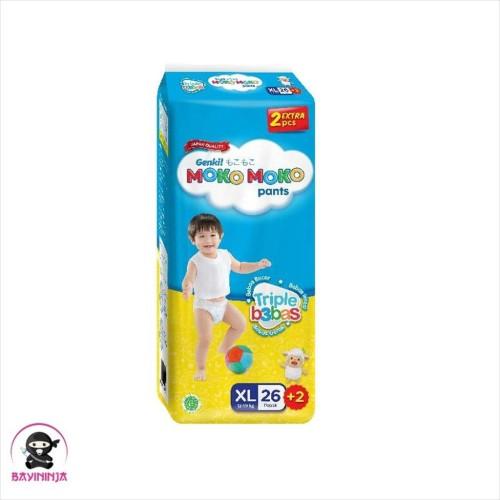 Foto Produk MOKO MOKO GENKI MOKOMOKO Pants Popok Celana XL26 XL 26 dari BAYININJA