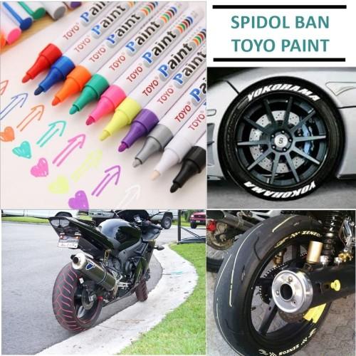 Foto Produk Spidol Ban Toyo ORIGINAL / Spidol Ban Mobil Motor / Paint Marker Toyo - Hijau dari TheGoodFashion