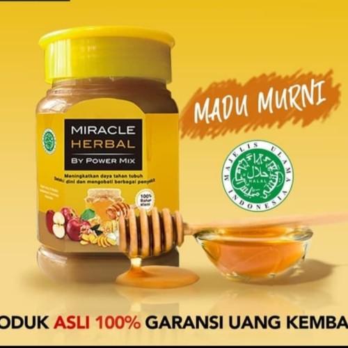 Foto Produk 1 BOTOL MIRACLE HERBAL 400ML BY POWERMIX MADU PUTIH dari Miracle Herbal Jakarta