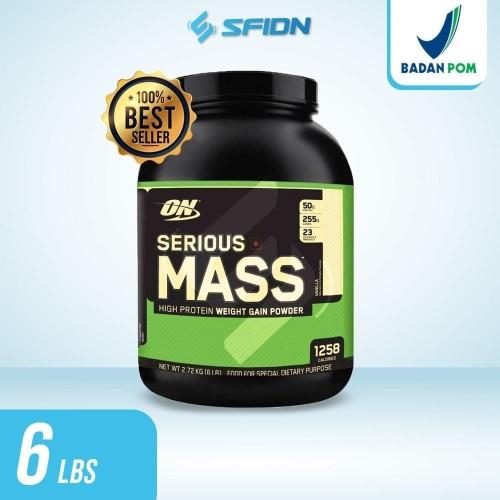 Foto Produk Optimum Nutrition On Serious Mass Gainer 6 Lbs Botol - Coklat dari SuplemenfitnessID