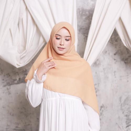 Foto Produk Hijab Ellysha CLOUDY CHIC HIJAB SQUARE SOFT MUSTARD dari Hijab Ellysha Official