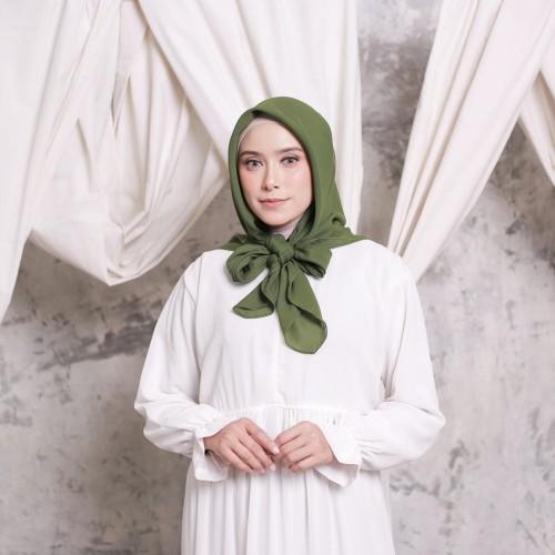 Foto Produk Hijab Ellysha CLOUDY CHIC HIJAB SQUARE GREEN ARMY dari Hijab Ellysha Official
