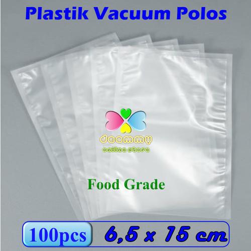 Foto Produk Plastik Vacuum Bag Polos 6,5 x 15 cm, Plastik Vakum Bag Sealer - 1Pak isi 100pcs dari Deammy OL Store