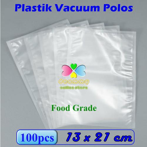 Foto Produk Plastik Vacuum Bag Polos 13 x 21 cm, Plastik Vakum Bag Sealer - 1Pak isi 100pcs dari Deammy OL Store
