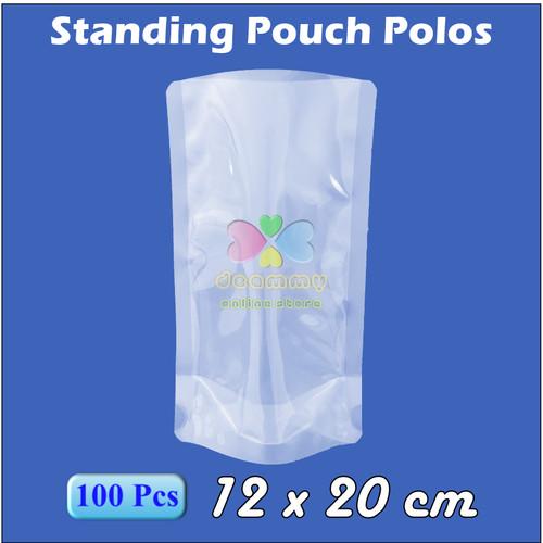 Foto Produk Plastik Vacum Standing Pouch 12 x 20 cm 1/4 Ltr, Plastik Vakum Sealer - 1Pak isi 100pcs dari Deammy OL Store