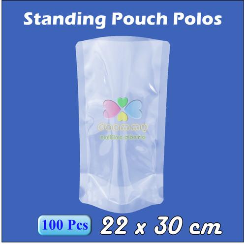 Foto Produk Plastik Vacum Standing Pouch 22 x 30 cm - 2 Ltr, Plastik Vakum Sealer - 1Pak isi 100pcs dari Deammy OL Store