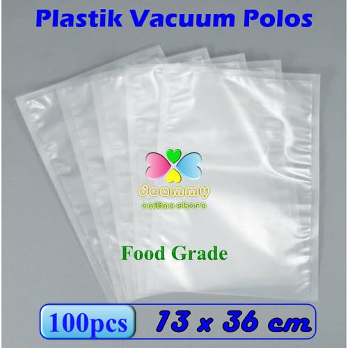 Foto Produk Plastik Vacuum Bag Polos 13 x 36 cm, Plastik Vakum Bag Sealer - 1Pak isi 100pcs dari Deammy OL Store