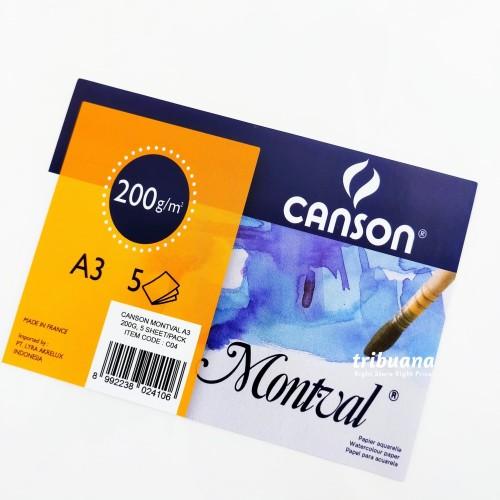 Foto Produk CANSON Montval A3/200gms -5 Sheets /Kertas watercolor dari Tribuana