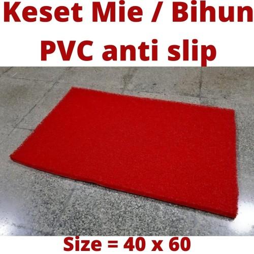Foto Produk Keset Mie Bihun PVC 40x60 Red, Karpet Anti Slip, S Mat, Kamar Mandi dari Martha Karpet Indonesia