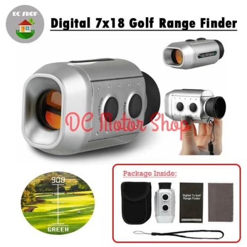 Foto Produk Digital 7x18 Golf Range Finder / Teropong Gold - Silver / Pencari Golf dari DC Motor Shop