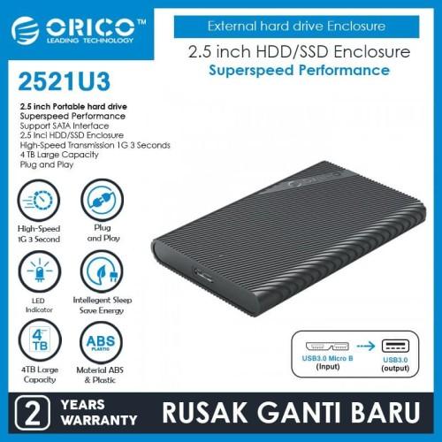Foto Produk ORICO Portable HDD Enclosure 2.5-Inch SATA3 SSD HDD USB3.0 - 2521U3 dari ORICO INDONESIA