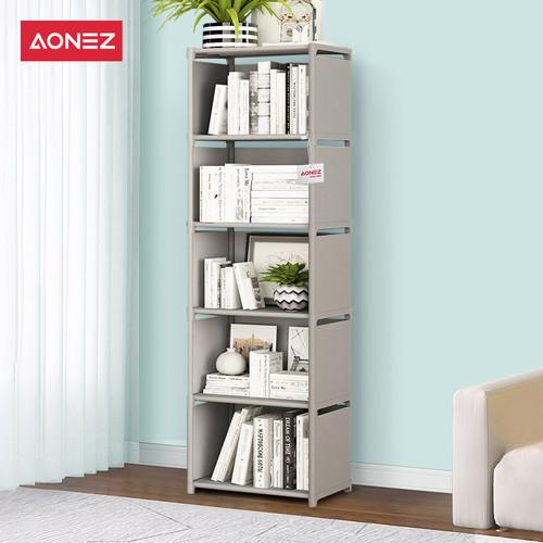 Foto Produk Aonez rak buku dengan 5baris dan 6 slot - Abu-abu, All Size dari AONEZ Official Store