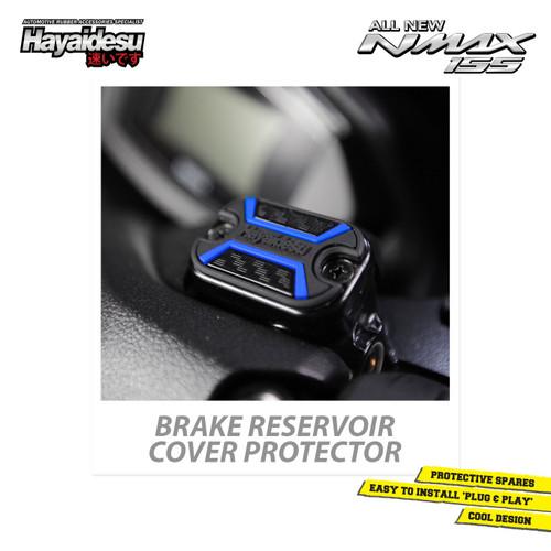 Foto Produk Hayaidesu All New NMAX Brake Reservoir Cover Variasi Body Protector - Biru dari Hayaidesu Indonesia