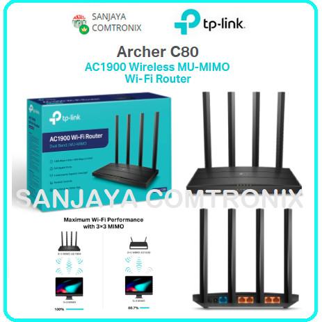 Foto Produk TP-Link Archer C80 AC1900 Wireless MU-MIMO Wi-Fi Router dari SANJAYA COMTRONIX