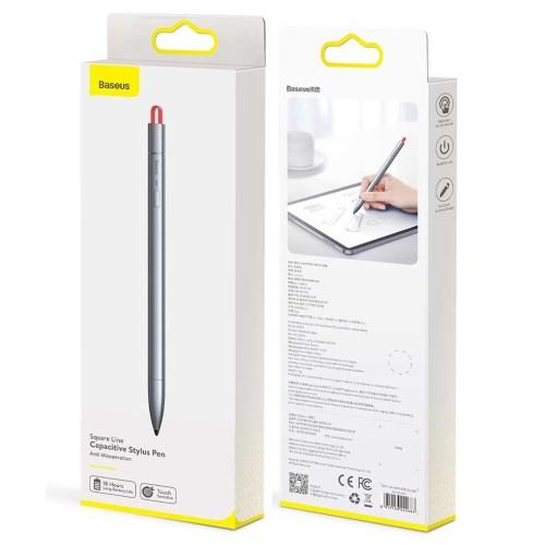 Foto Produk Baseus Square Line Capacitive Stylus Pen Anti Misoperation Original dari Pasti Original Asli