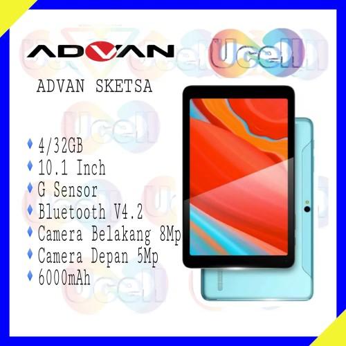 "Foto Produk Advan Tablet Sketsa 10"" 4GB/32GB + Stylus Pen - Garansi Resmi dari ucell cempaka"