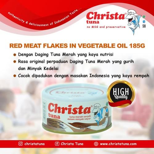 Foto Produk Christa Tuna - Tuna Red Meat Flakes di dalam kaleng dari Christa Tuna Official