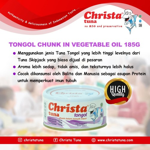 Foto Produk Christa Tuna - Tuna Tongol dalam kaleng dari Christa Tuna Official