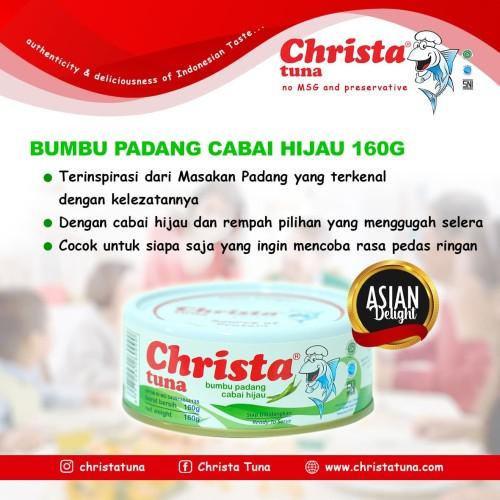 Foto Produk Christa Tuna - Tuna Bumbu Padang Cabai Hijau Dalam Kaleng dari Christa Tuna Official