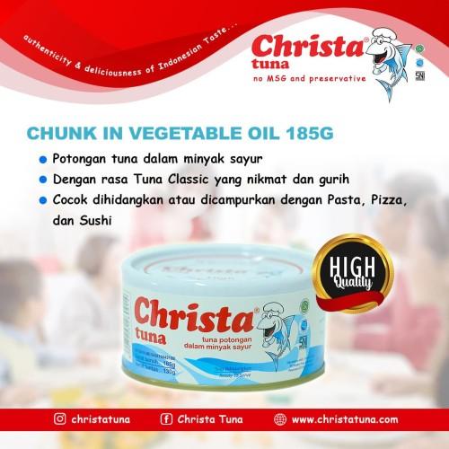 Foto Produk Christa Tuna - Tuna Potongan (Chunk) dalam Kaleng dari Christa Tuna Official