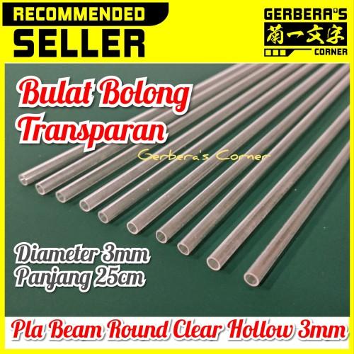 Foto Produk Plastic Beam Round Clear Hollow 3mm Pla Beam Plastic Plate Custom dari Gerbera's Corner