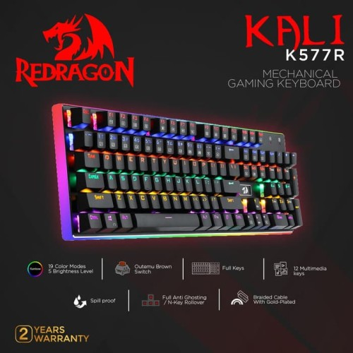 Foto Produk Redragon K577R Mechanical Gaming Keyboard KALI dari manekistore