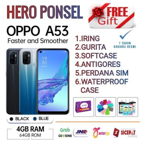 Foto Produk OPPO A53 RAM 4/64 GB GARANSI RESMI OPPO INDONESIA - Hitam No Bonus dari HERO PONSEL.