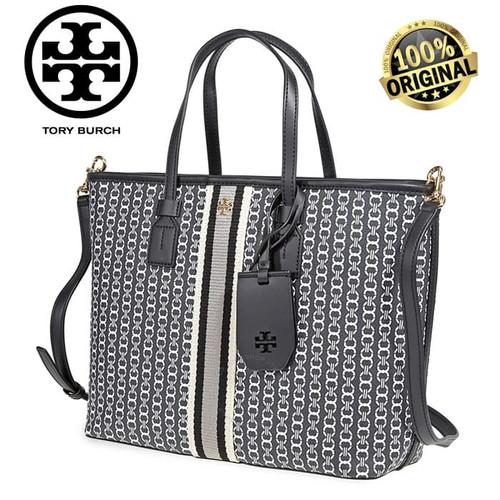 Foto Produk TB TORY BURCH GEMINI LINK CANVAS SMALL TOP-ZIP TOTE 100% AUTHENTIC! - BLACK dari Fashion&LifeStyle
