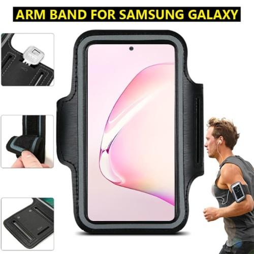 Foto Produk Samsung S8 S9 S10 S10e Lite Ultra Plus Armband Arm Band Lengan Jogging - Hitam dari Forsakey Gadget Acc